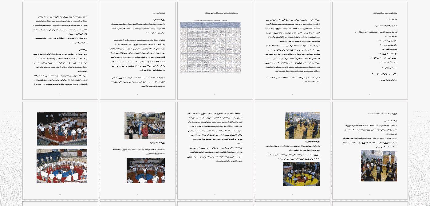 برنامه فیزیکی و نمونه موردی زورخانه