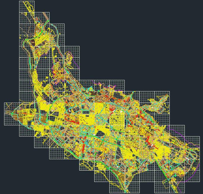 نقشه اتوکدی شیراز